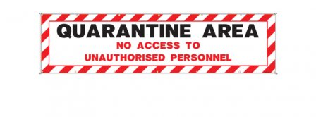Coronavirus Quarantine Area Banner Facebook Covers